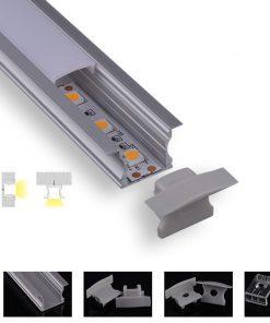 Infälld aluminiumprofil
